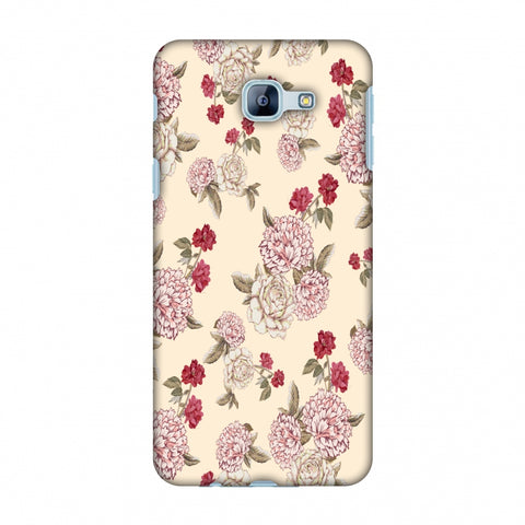 Dahlia And Rose - Cream Slim Hard Shell Case For Samsung Galaxy A8 2016