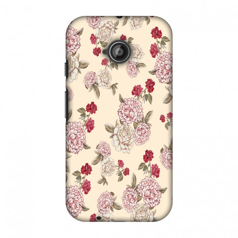 Dahlia And Rose - Cream Slim Hard Shell Case For Motorola Moto E 2nd Gen