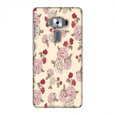 Dahlia And Rose - Cream Slim Hard Shell Case For Asus Zenfone 3 Deluxe ZS570KL