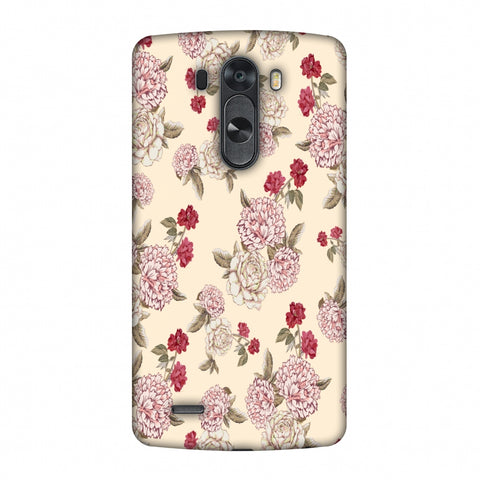 Dahlia And Rose - Cream Slim Hard Shell Case For LG G4