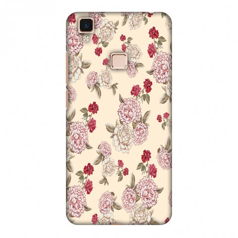 Dahlia And Rose - Cream Slim Hard Shell Case For Vivo V3 Max
