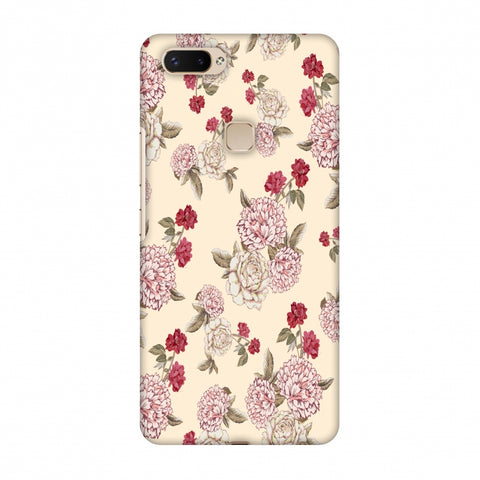 Dahlia And Rose - Cream Slim Hard Shell Case For Vivo X20 Plus
