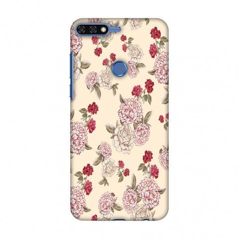 Dahlia And Rose - Cream Slim Hard Shell Case For Huawei Honor 7C