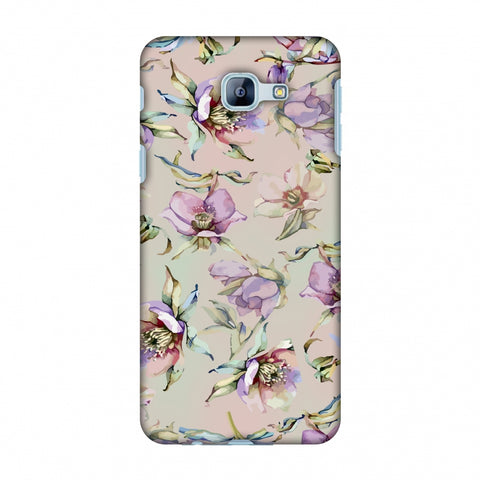 Watercolour Poppy - Lavender And Pink Slim Hard Shell Case For Samsung Galaxy A8 2016
