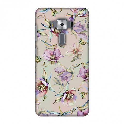 Watercolour Poppy - Lavender And Pink Slim Hard Shell Case For Asus Zenfone 3 Deluxe ZS570KL