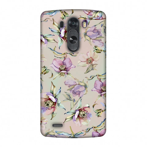 Watercolour Poppy - Lavender And Pink Slim Hard Shell Case For LG G4