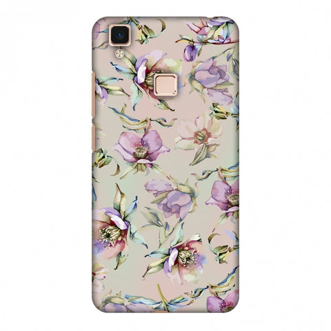 Watercolour Poppy - Lavender And Pink Slim Hard Shell Case For Vivo V3 Max
