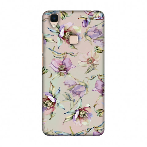 Watercolour Poppy - Lavender And Pink Slim Hard Shell Case For Vivo V3