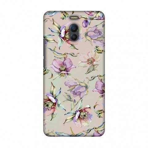 Watercolour Poppy - Lavender And Pink Slim Hard Shell Case For Meizu Note 6