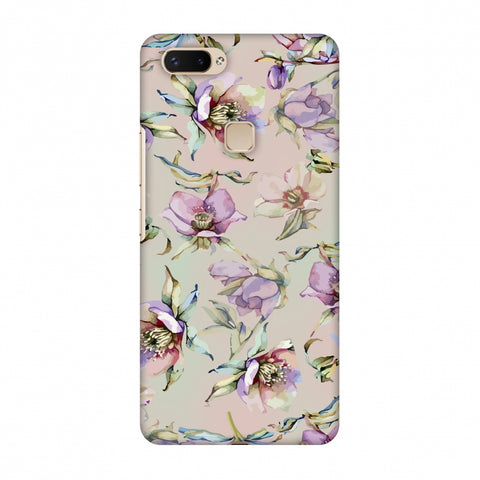 Watercolour Poppy - Lavender And Pink Slim Hard Shell Case For Vivo X20 Plus