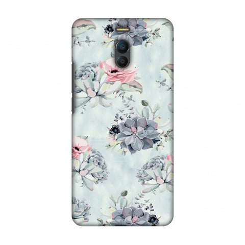 Watercolour Flowers - Blue And Pink Slim Hard Shell Case For Meizu Note 6
