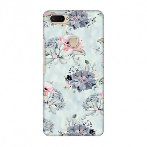 Watercolour Flowers - Blue And Pink Slim Hard Shell Case For Vivo X20 Plus