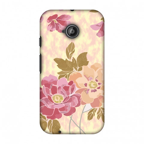 Poster Floral And TextuRed Leaves - Begonia Slim Hard Shell Case For Motorola Moto E 2nd Gen