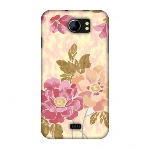 Poster Floral And TextuRed Leaves - Begonia Slim Hard Shell Case For Micromax Canvas 2 A110