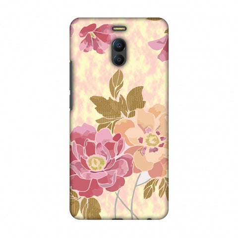 Poster Floral And TextuRed Leaves - Begonia Slim Hard Shell Case For Meizu Note 6
