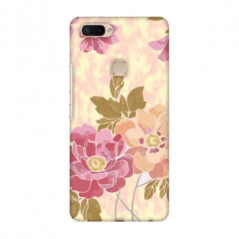Poster Floral And TextuRed Leaves - Begonia Slim Hard Shell Case For Vivo X20 Plus