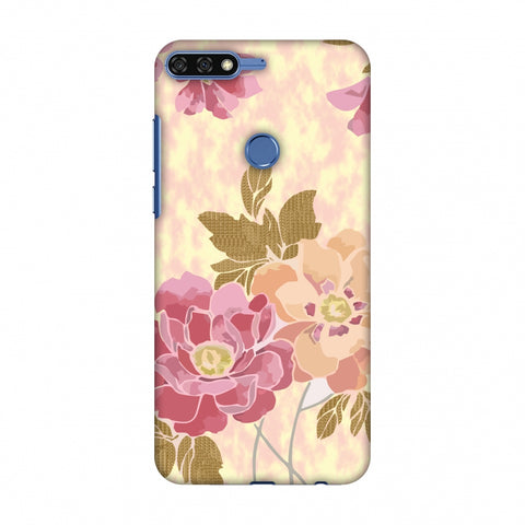 Poster Floral And TextuRed Leaves - Begonia Slim Hard Shell Case For Huawei Honor 7C