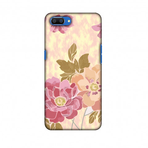 Poster Floral And TextuRed Leaves - Begonia Slim Hard Shell Case For Oppo Realme C1