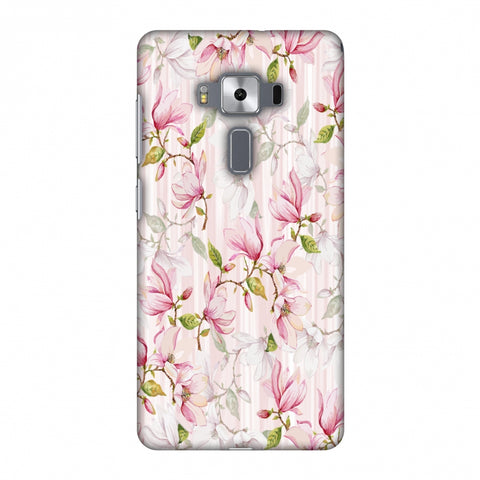 Flowers And Buds - Baby Pink Slim Hard Shell Case For Asus Zenfone 3 Deluxe ZS570KL