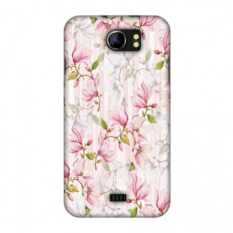 Flowers And Buds - Baby Pink Slim Hard Shell Case For Micromax Canvas 2 A110