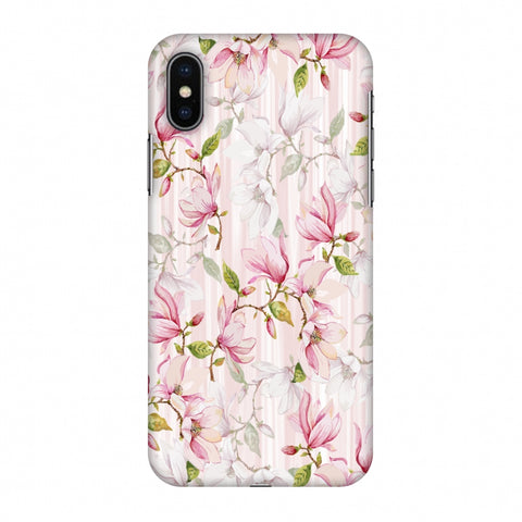 Flowers And Buds - Baby Pink Slim Hard Shell Case For Apple iPhone X