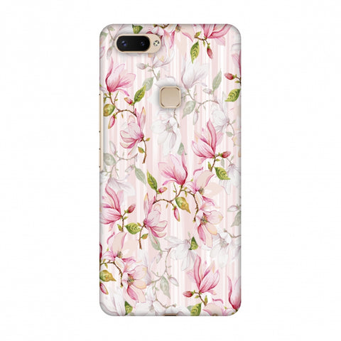 Flowers And Buds - Baby Pink Slim Hard Shell Case For Vivo X20 Plus