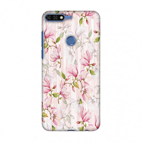 Flowers And Buds - Baby Pink Slim Hard Shell Case For Huawei Honor 7C