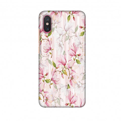 Flowers And Buds - Baby Pink Slim Hard Shell Case For Xiaomi Mi 8 Pro