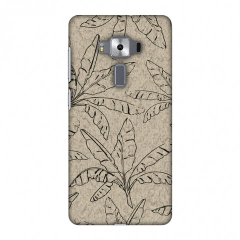 Draw It Tropically - Beige Slim Hard Shell Case For Asus Zenfone 3 Deluxe ZS570KL