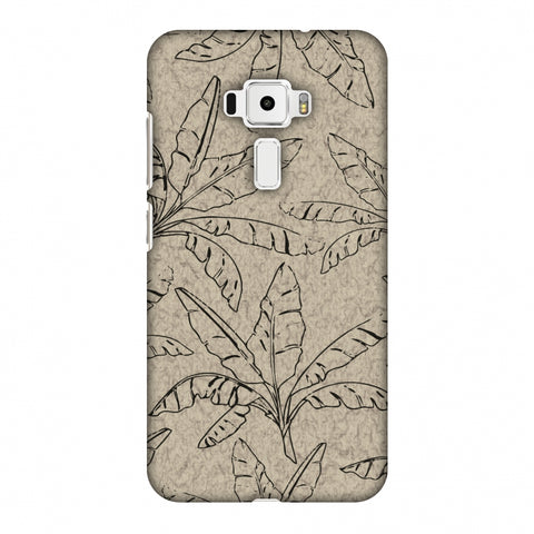 Draw It Tropically - Beige Slim Hard Shell Case For Asus Zenfone 3 ZE520KL
