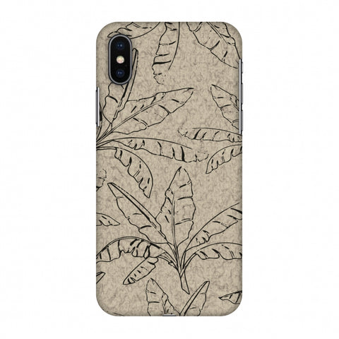 Draw It Tropically - Beige Slim Hard Shell Case For Apple iPhone X