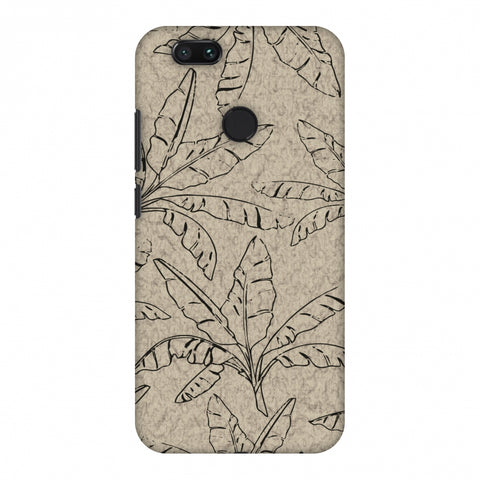 Draw It Tropically - Beige Slim Hard Shell Case For Xiaomi MI A1-5X