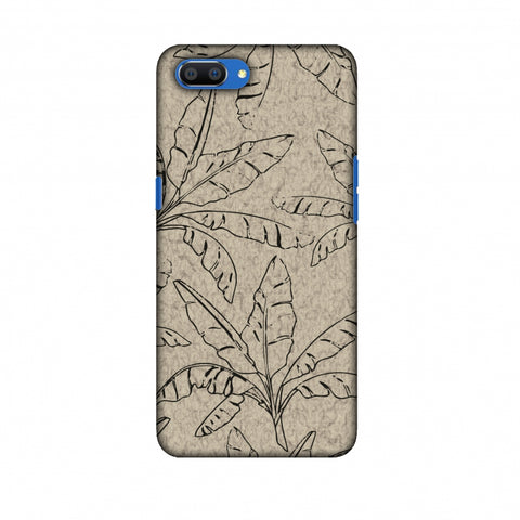 Draw It Tropically - Beige Slim Hard Shell Case For Oppo Realme C1
