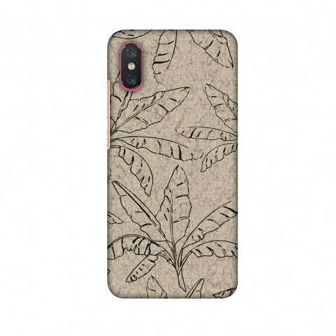 Draw It Tropically - Beige Slim Hard Shell Case For Xiaomi Mi 8 Pro