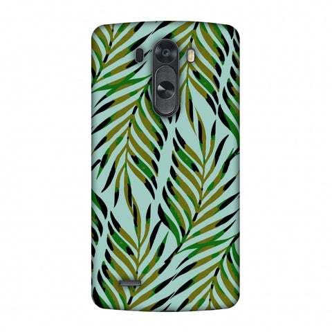Ferns Allover - Blue Slim Hard Shell Case For LG G4