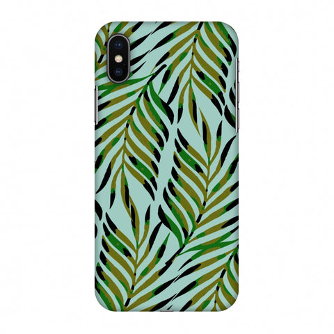 Ferns Allover - Blue Slim Hard Shell Case For Apple iPhone X