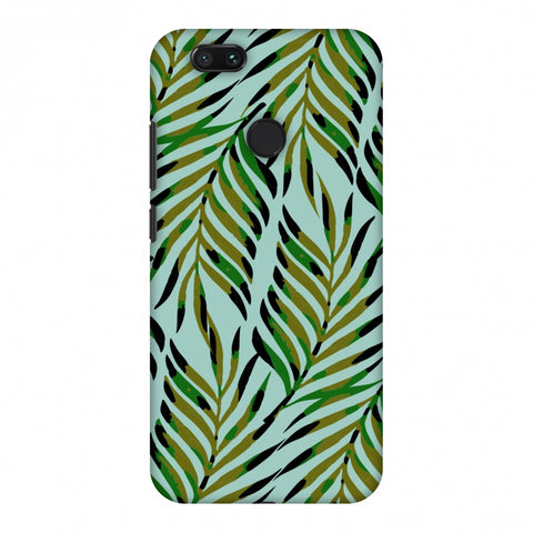 Ferns Allover - Blue Slim Hard Shell Case For Xiaomi MI A1-5X