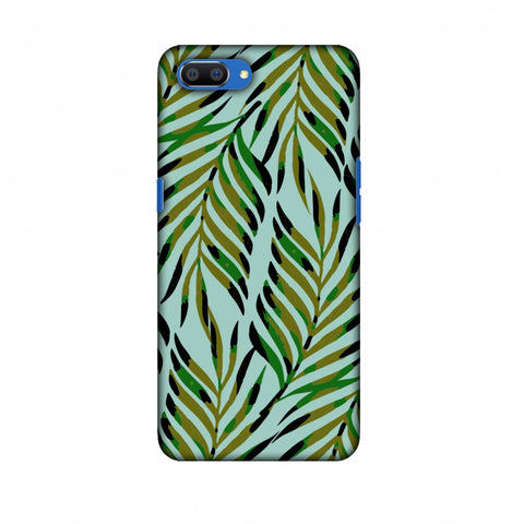 Ferns Allover - Blue Slim Hard Shell Case For Oppo Realme C1