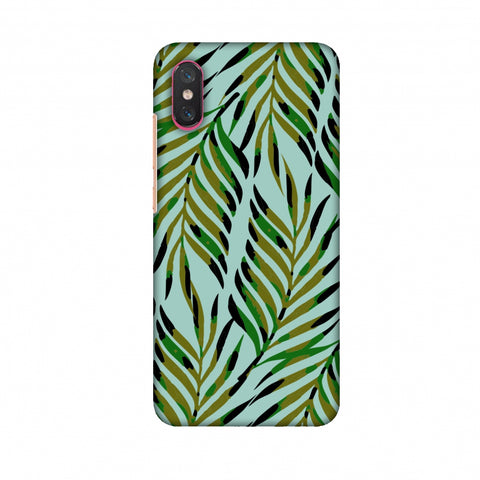 Ferns Allover - Blue Slim Hard Shell Case For Xiaomi Mi 8 Pro