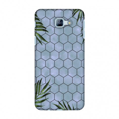 Ferns Over Honeycomb - Pale Blue Slim Hard Shell Case For Samsung Galaxy A8 2016