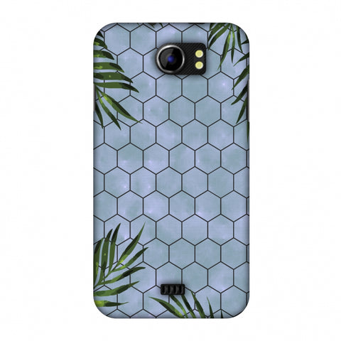 Ferns Over Honeycomb - Pale Blue Slim Hard Shell Case For Micromax Canvas 2 A110