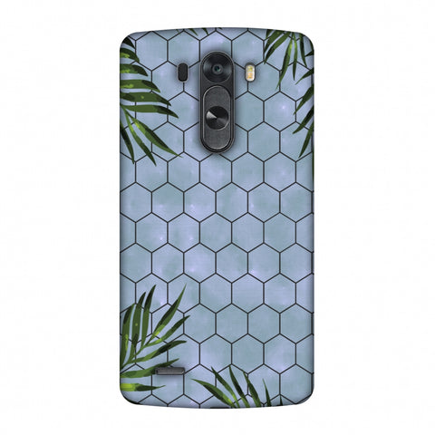 Ferns Over Honeycomb - Pale Blue Slim Hard Shell Case For LG G4