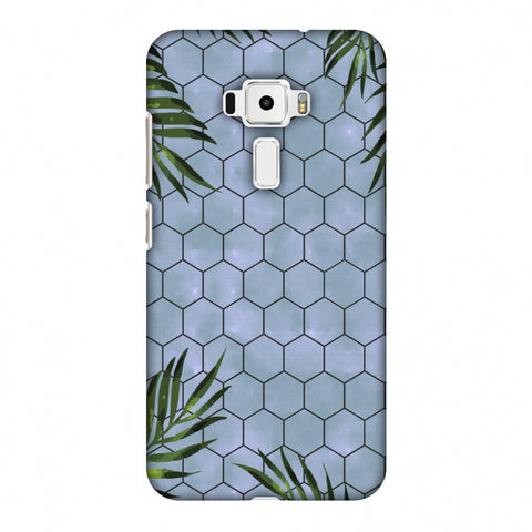 Ferns Over Honeycomb - Pale Blue Slim Hard Shell Case For Asus Zenfone 3 ZE520KL