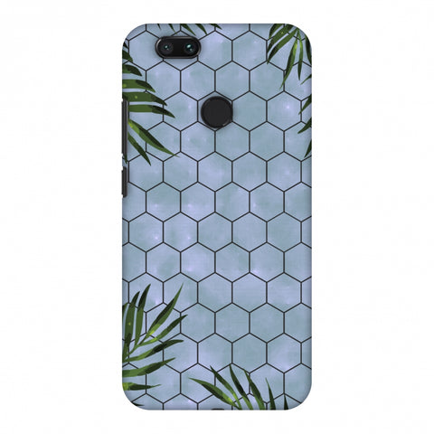 Ferns Over Honeycomb - Pale Blue Slim Hard Shell Case For Xiaomi MI A1-5X