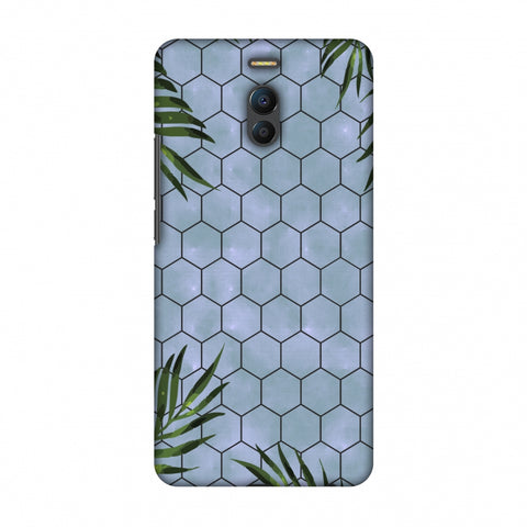 Ferns Over Honeycomb - Pale Blue Slim Hard Shell Case For Meizu Note 6