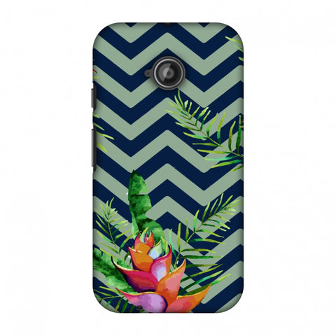 Fruitful Chevron - Blue Slim Hard Shell Case For Motorola Moto E 2nd Gen