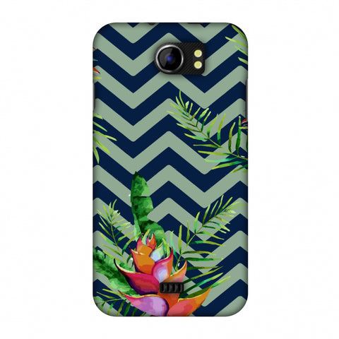 Fruitful Chevron - Blue Slim Hard Shell Case For Micromax Canvas 2 A110
