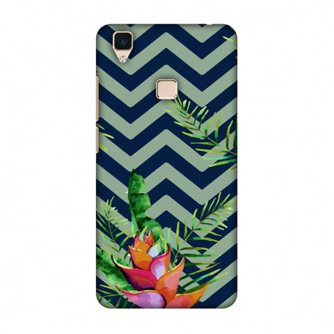 Fruitful Chevron - Blue Slim Hard Shell Case For Vivo V3