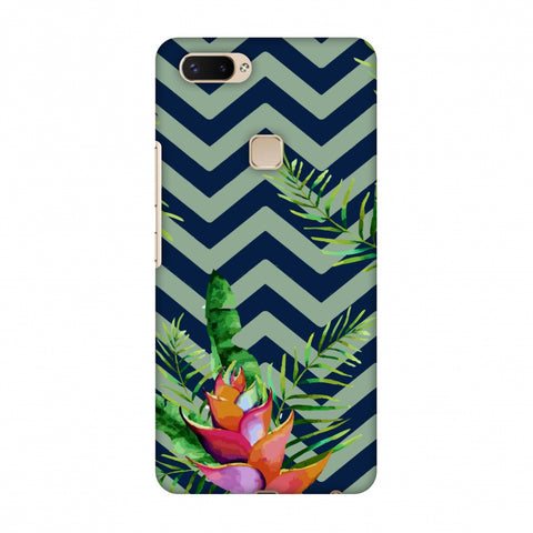 Fruitful Chevron - Blue Slim Hard Shell Case For Vivo X20 Plus
