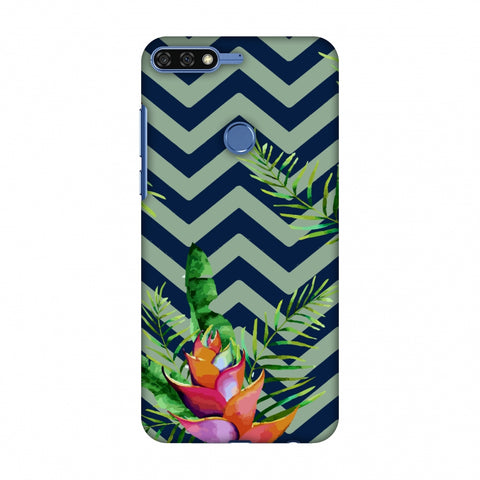 Fruitful Chevron - Blue Slim Hard Shell Case For Huawei Honor 7C
